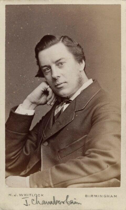 Joe Chamberlain, by Henry Joseph Whitlock, 1870s - NPG Ax18358 - © National Portrait Gallery, London