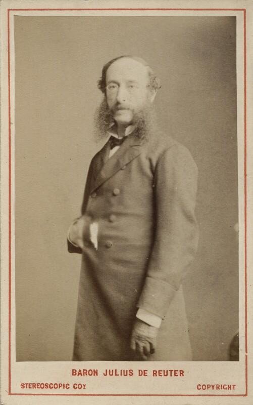 (Paul) Julius de Reuter, Baron de Reuter (né Israel Beer Josaphat), by London Stereoscopic & Photographic Company, 1873 - NPG Ax18381 - © National Portrait Gallery, London