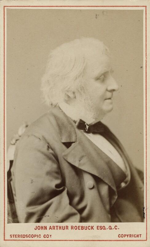 John Arthur Roebuck, by London Stereoscopic & Photographic Company, 1873 - NPG Ax18233 - © National Portrait Gallery, London