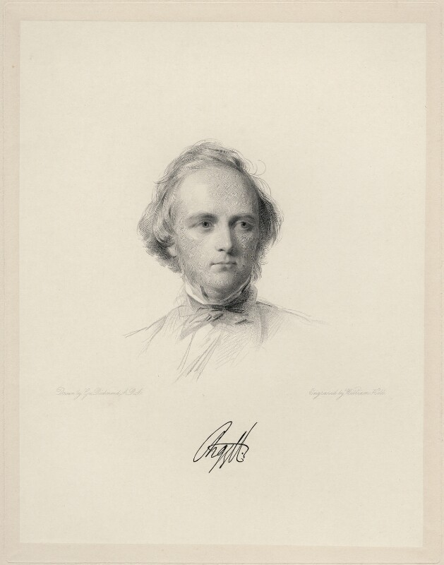 George Douglas Campbell, 8th Duke of Argyll, by William Holl Jr, after  George Richmond, 1862 or after - NPG D20672 - © National Portrait Gallery, London