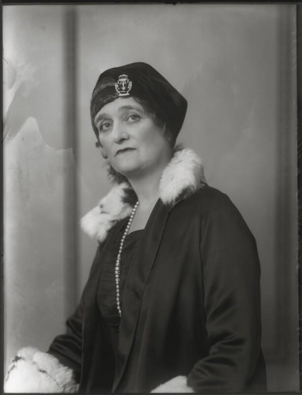 Blanche Alice Murray (née Scott), Viscountess Elibank, by Bassano Ltd, 24 October 1930 - NPG x124965 - © National Portrait Gallery, London