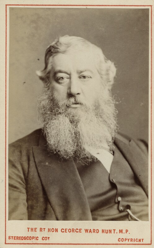 George Ward Hunt, by London Stereoscopic & Photographic Company, 1873 - NPG Ax18281 - © National Portrait Gallery, London