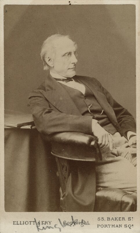 Alexander William Kinglake, by Elliott & Fry, 1870s - NPG Ax18304 - © National Portrait Gallery, London