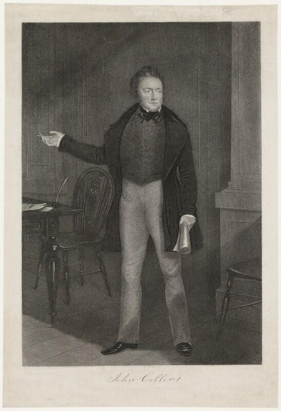 John Collins, after Unknown artist, 1840 - NPG D21607 - © National Portrait Gallery, London