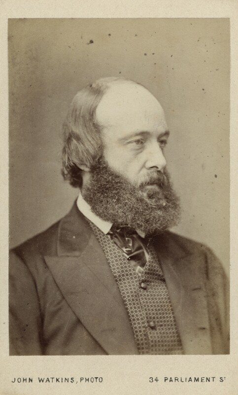 Robert Gascoyne-Cecil, 3rd Marquess of Salisbury, by John Watkins, early 1870s - NPG Ax18276 - © National Portrait Gallery, London