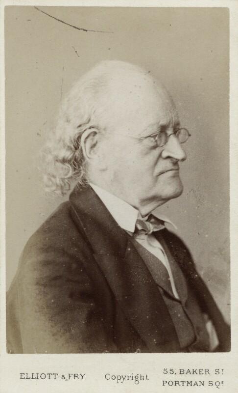 Sir John Bowring, by Elliott & Fry, 1860s - NPG Ax18310 - © National Portrait Gallery, London