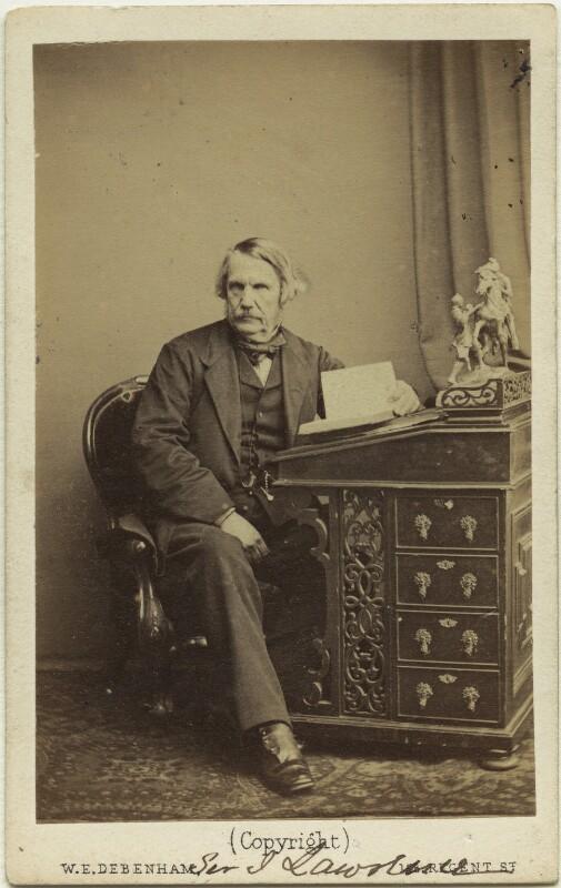 John Laird Mair Lawrence, 1st Baron Lawrence, by William Elliott Debenham, 1863 - NPG x46567 - © National Portrait Gallery, London