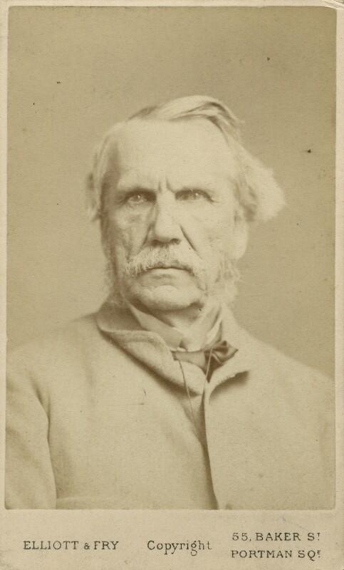 John Laird Mair Lawrence, 1st Baron Lawrence, by Elliott & Fry, 1870s - NPG x12419 - © National Portrait Gallery, London