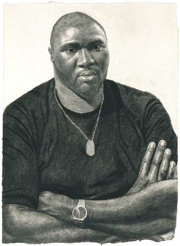 Nonso Anozie, by Stuart Pearson Wright, 2005 - NPG 6751 - © National Portrait Gallery, London