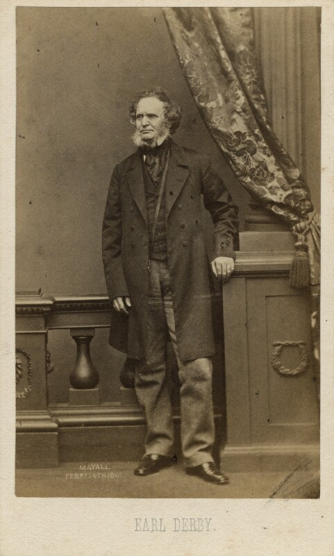 Edward Stanley, 14th Earl of Derby, by John Jabez Edwin Mayall, 1861 - NPG x8354 - © National Portrait Gallery, London