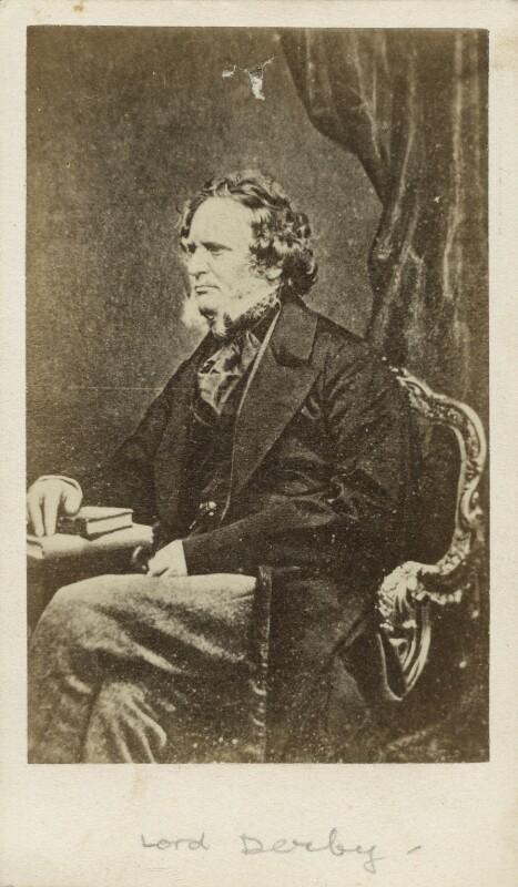 Edward Stanley, 14th Earl of Derby, copy by John Clarck, 1860s - NPG x17115 - © National Portrait Gallery, London