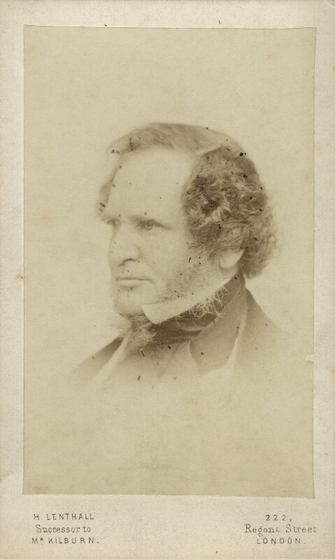 Edward Stanley, 14th Earl of Derby, printed by Henry Lenthall, after  William Edward Kilburn, 1864-1877 (published March 1861) - NPG x12896 - © National Portrait Gallery, London