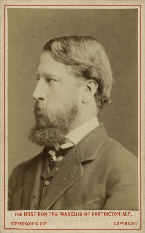 Spencer Compton Cavendish, 8th Duke of Devonshire, by London Stereoscopic & Photographic Company, 1873 - NPG x8029 - © National Portrait Gallery, London