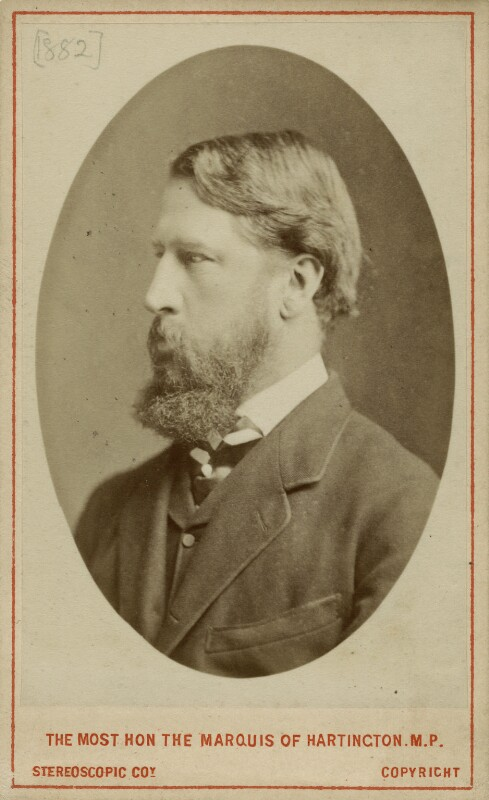 Spencer Compton Cavendish, 8th Duke of Devonshire, by London Stereoscopic & Photographic Company, 1873 - NPG x8030 - © National Portrait Gallery, London