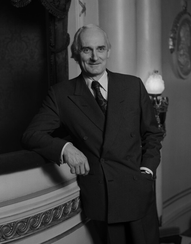 Sir Donald Arthur Rolleston Albery, by Rex Coleman, for  Baron Studios, 11 December 1972 - NPG x128257 - © National Portrait Gallery, London