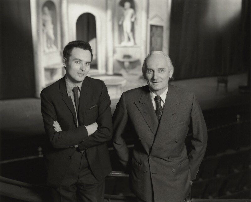 Sir Donald Arthur Rolleston Albery; Ian Bronson Albery, by Rex Coleman, for  Baron Studios, 11 December 1972 - NPG x128258 - © National Portrait Gallery, London