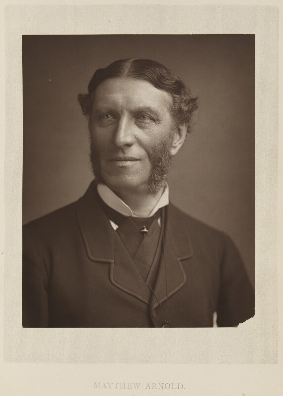 Matthew Arnold, by Elliott & Fry, published by  Bickers & Son, published 1886 (circa 1883) - NPG Ax27807 - © National Portrait Gallery, London