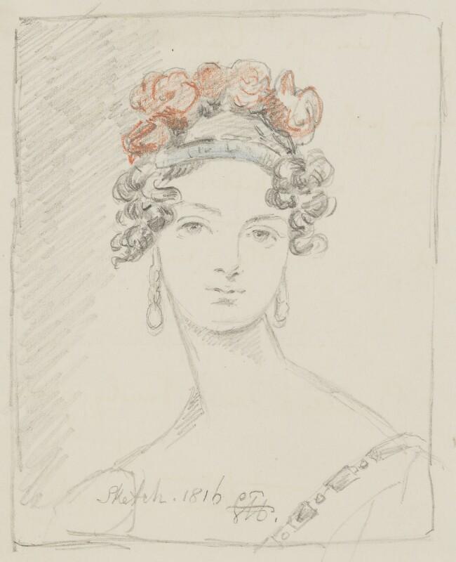 Elizabeth Anne (née Rawdon), Lady Russell, by Lord Arthur John Edward Russell, after  Sir George Hayter, 1873 (1816) - NPG D22548 - © National Portrait Gallery, London