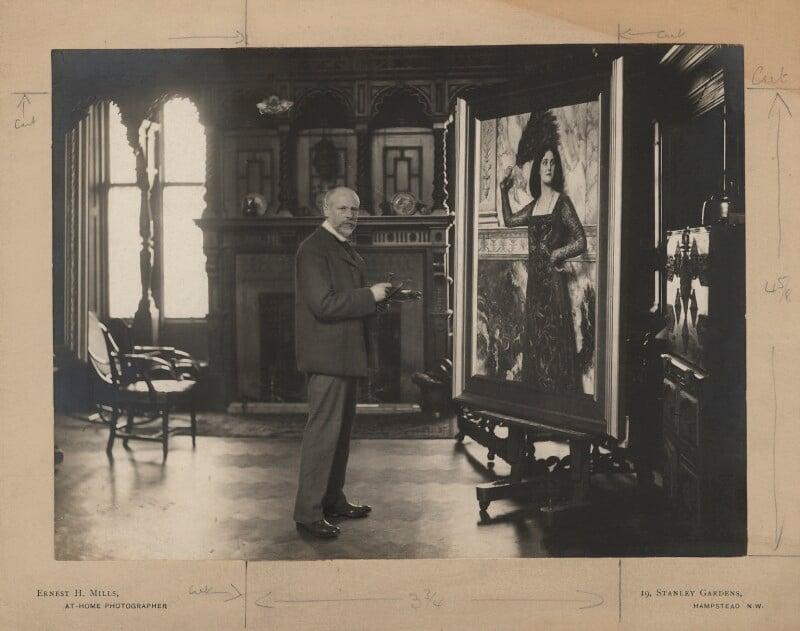 John Collier, by E.H. Mills, circa 1894 - NPG x128268 - © National Portrait Gallery, London