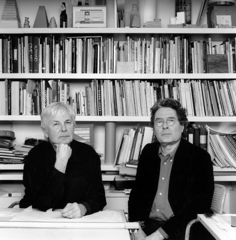 Jeremy Dixon; Edward David Brynmor Jones, by Valerie Bennett, 2004 - NPG x128269 - © Valerie Bennett / National Portrait Gallery, London