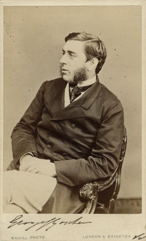 George Joachim Goschen, 1st Viscount Goschen, by John Jabez Edwin Mayall, 1877 - NPG x27763 - © National Portrait Gallery, London