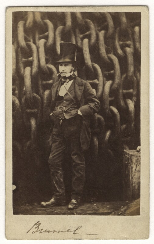 Isambard Kingdom Brunel, by Robert Howlett, published by  London Stereoscopic & Photographic Company, November 1857 - NPG x5177 - © National Portrait Gallery, London