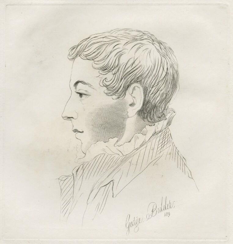 George Parker Bidder, by Mary Dawson Turner (née Palgrave), after  John Sell Cotman, 1819 - NPG D22561 - © National Portrait Gallery, London