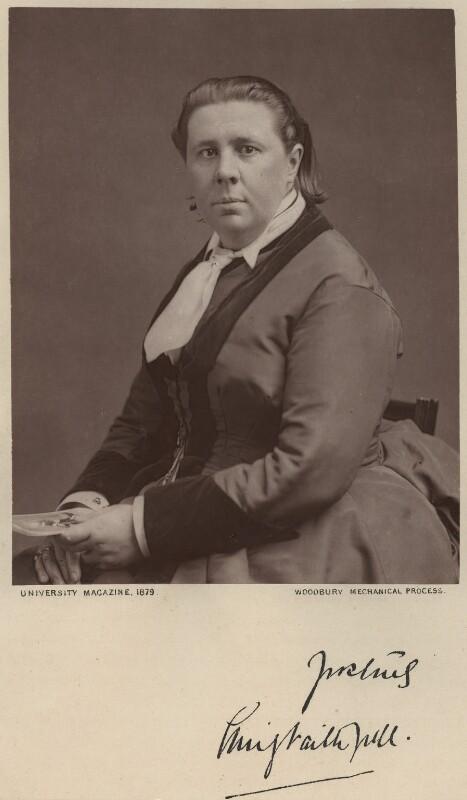 Emily Faithfull, published by University Magazine, published 1879 - NPG x128423 - © National Portrait Gallery, London