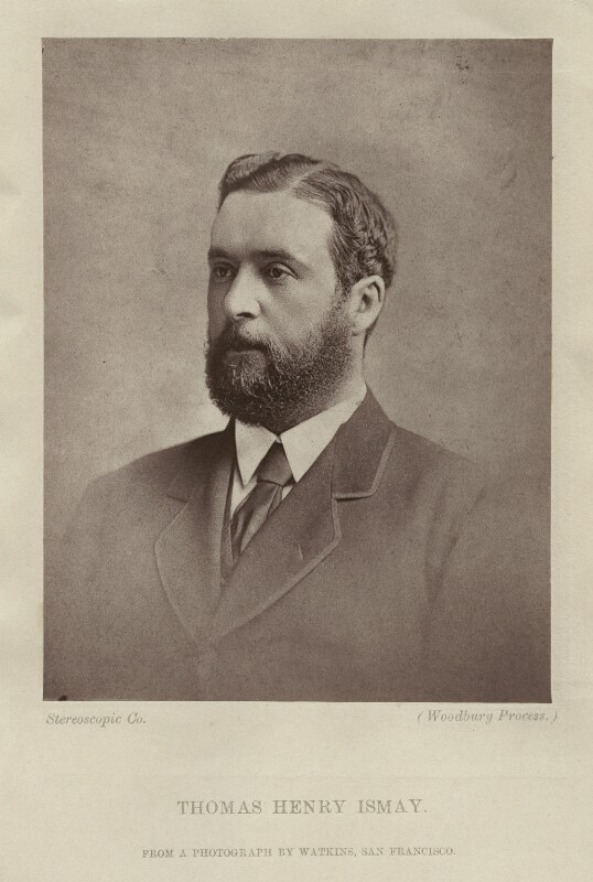 Thomas Henry Ismay, by London Stereoscopic & Photographic Company, after  Carleton E. Watkins, 1870s - NPG x128431 - © National Portrait Gallery, London
