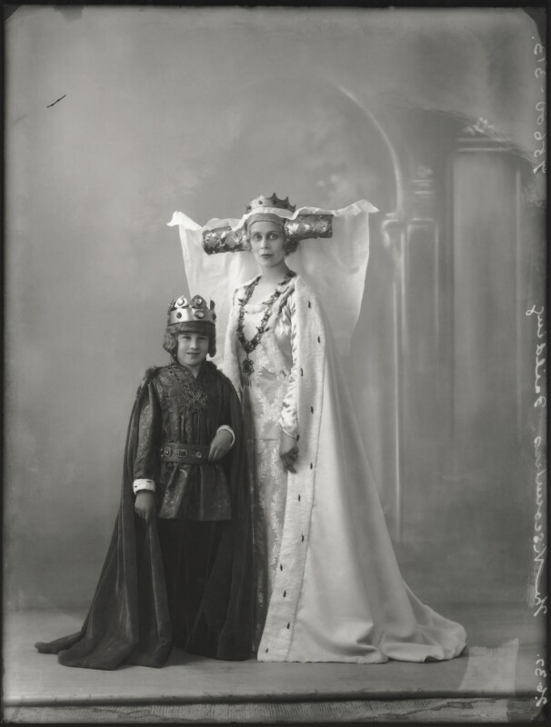 Hon. Henry Anthony Feilding as Henry VII; Agnes Imelda Mary Feilding (née Harding), Viscountess Feilding as Queen Katherine, by Bassano Ltd, 2 June 1932 - NPG x150271 - © National Portrait Gallery, London