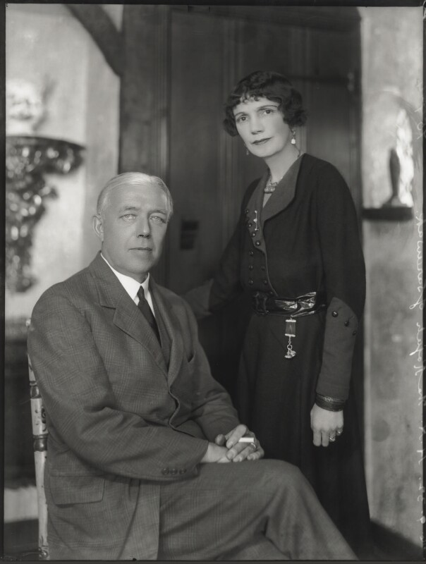 Sir Charles Vyner de Windt Brooke; Sylvia Leonora (née Brett), Lady Brooke, Ranee of Sarawak, by Bassano Ltd, 26 July 1932 - NPG x150287 - © National Portrait Gallery, London