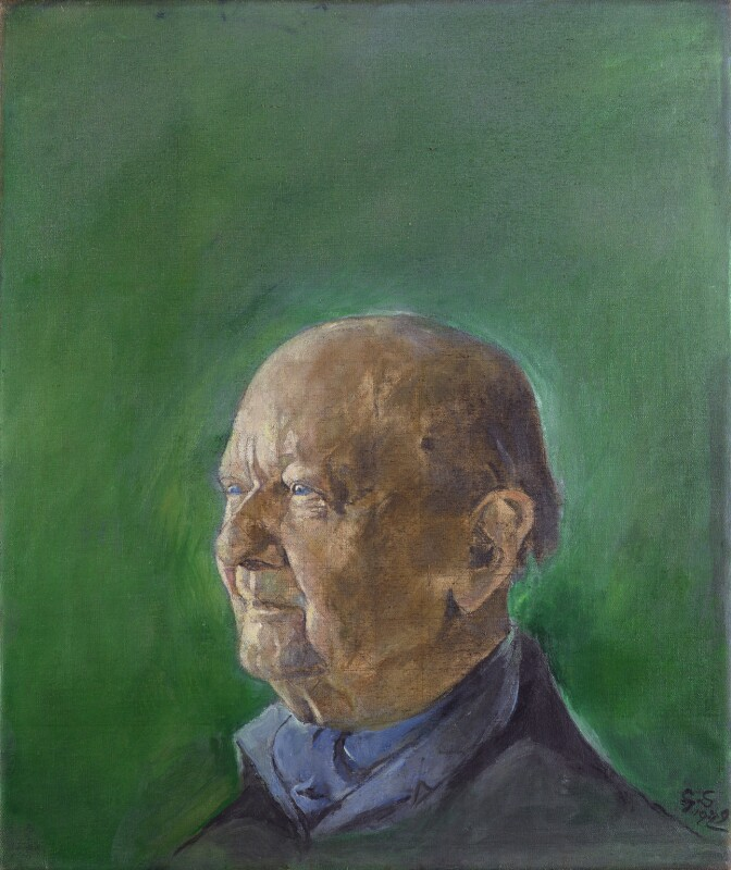 Milner Connorton Gray, by Graham Vivian Sutherland, 1979 - NPG 6458 - © National Portrait Gallery, London