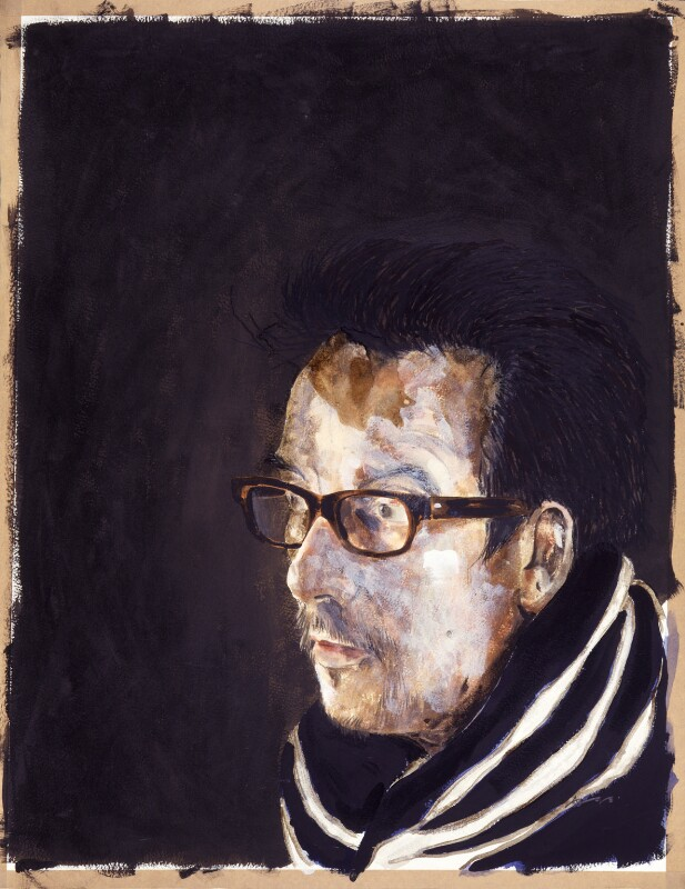 Elvis Costello, by Adam Birtwistle, 1996 - NPG 6460 - © Adam Birtwistle / Piano Nobile Fine Paintings