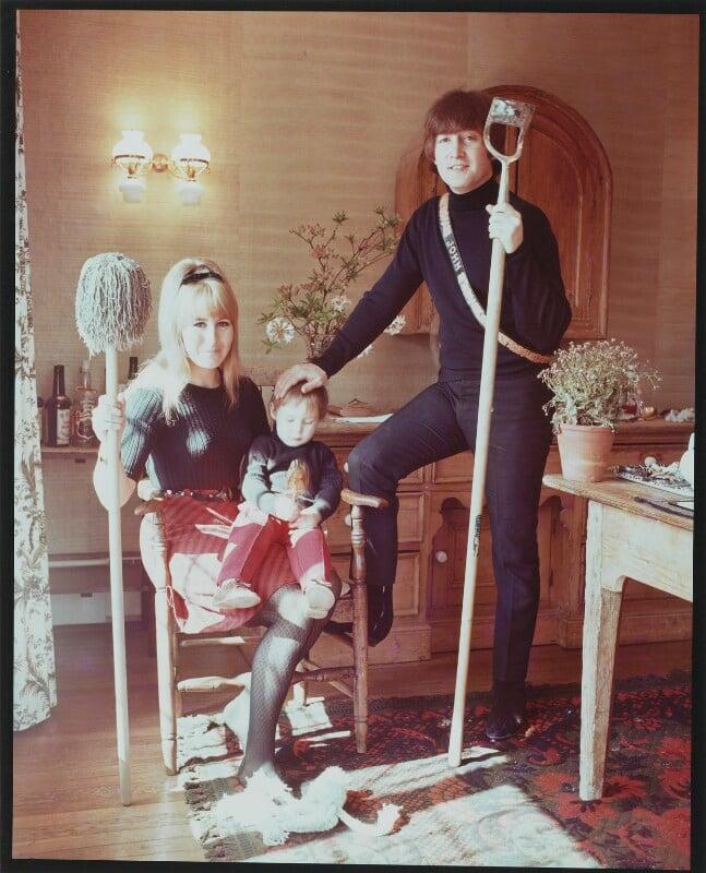 The Lennon Family, by Robert Whitaker, May 1965 - NPG P732 - Photograph Robert Whitaker
