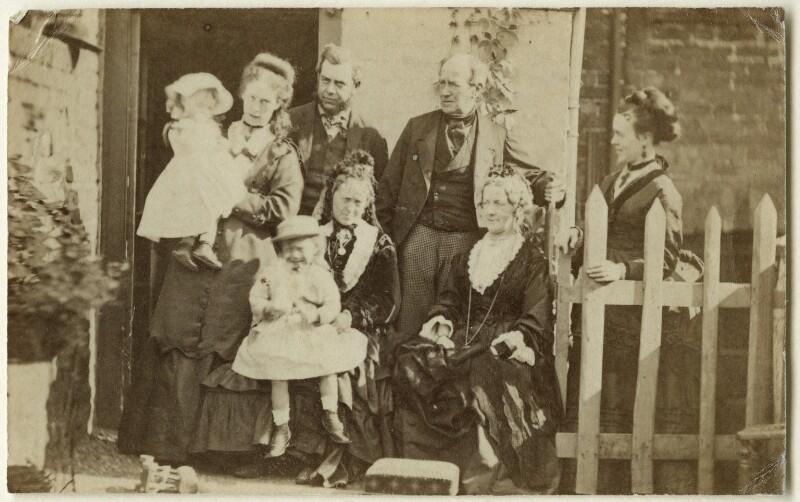 The Hollyer and Armstrong families, by Unknown photographer, circa 1873 - NPG Ax128345 - © National Portrait Gallery, London