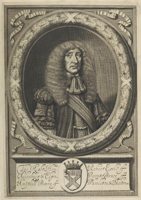 Robert Bruce, 1st Earl of Ailesbury and 2nd Earl of Elgin, by William Faithorne, circa 1664-1680 - NPG D22626 - © National Portrait Gallery, London