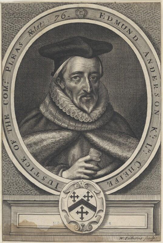 Sir Edmund Anderson, by William Faithorne, published 1664 - NPG D22627 - © National Portrait Gallery, London