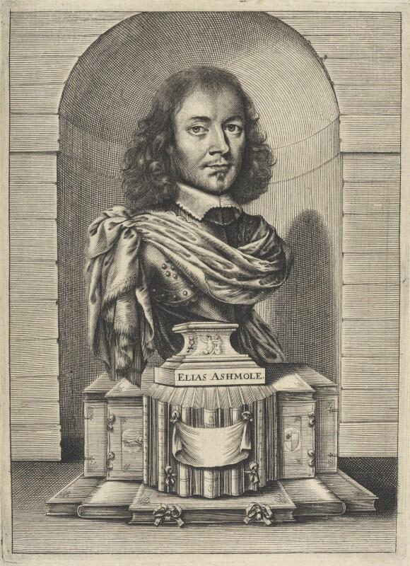 Elias Ashmole, by William Faithorne, 1656 - NPG D22630 - © National Portrait Gallery, London