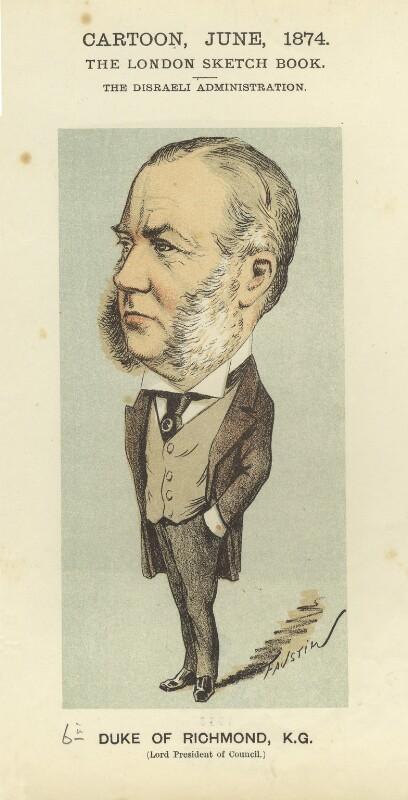 Charles Henry Gordon-Lennox, 6th Duke of Richmond, 6th Duke of Lennox and 1st Duke of Gordon, by Faustin Betbeder ('Faustin'), 1874 - NPG D23037 - © National Portrait Gallery, London