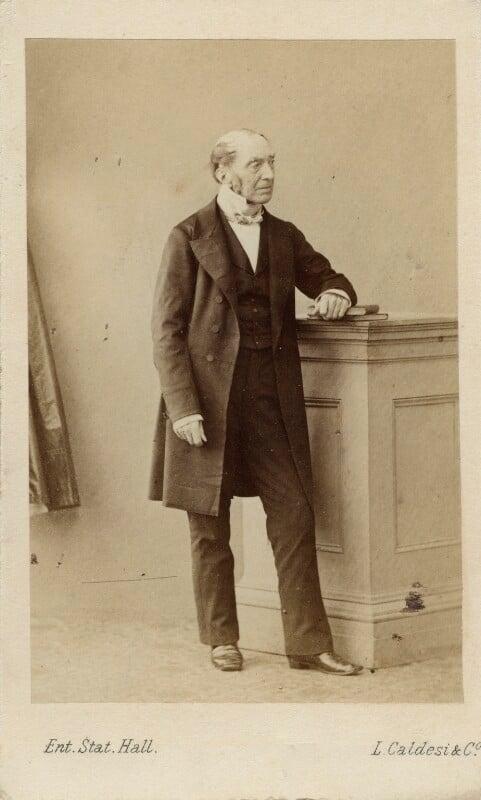 Sir Charles Lock Eastlake, by Leonida Caldesi, early 1860s - NPG Ax11913 - © National Portrait Gallery, London