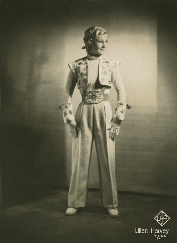 Lilian Harvey (née Helene Lilian Muriel Pape), for Universum Film A.G. (UFA), 1937 - NPG x128518 - © National Portrait Gallery, London
