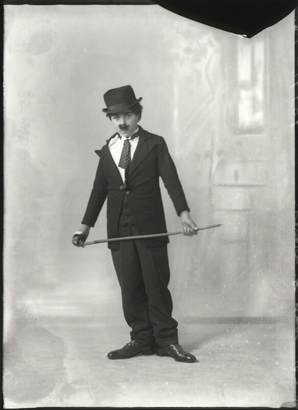 Master G. Archer as Charles Chaplin, by Bassano Ltd, 10 January 1931 - NPG x150331 - © National Portrait Gallery, London