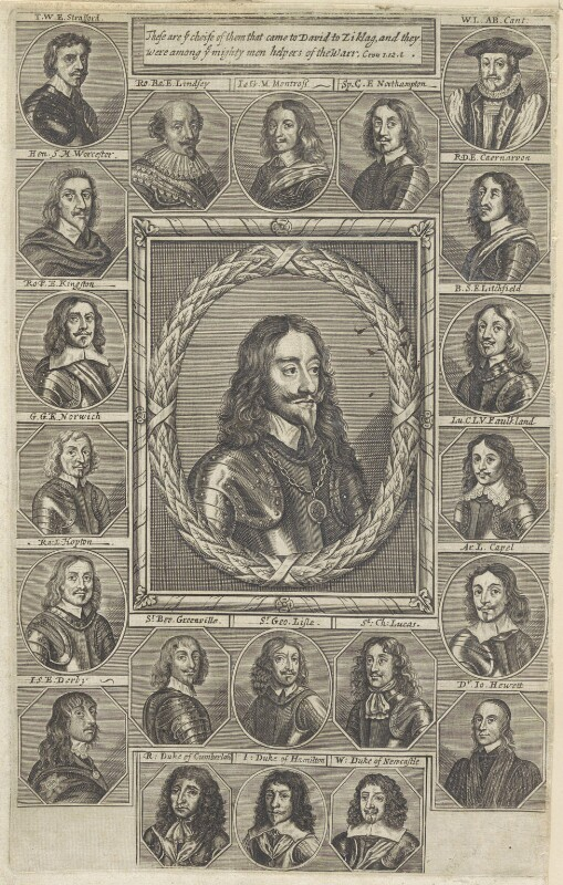 King Charles I and his adherents, after Sir Anthony van Dyck, and after  Unknown artists, 1660s - NPG D22672 - © National Portrait Gallery, London