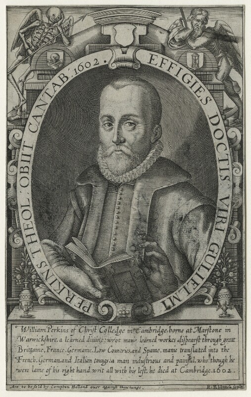William Perkins, by Renold or Reginold Elstrack (Elstracke), published by  Compton Holland, after  Unknown artist, circa 1616-1620 - NPG D23054 - © National Portrait Gallery, London