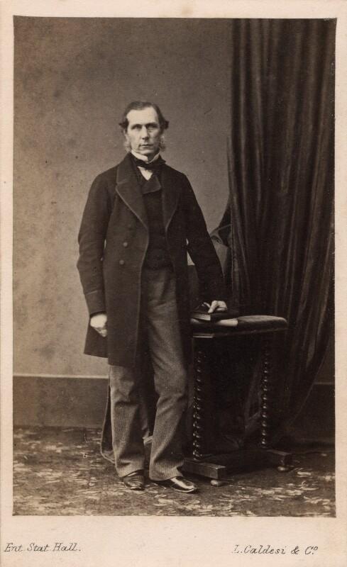 Roundell Palmer, 1st Earl of Selborne, by Leonida Caldesi, 1860s - NPG Ax39734 - © National Portrait Gallery, London