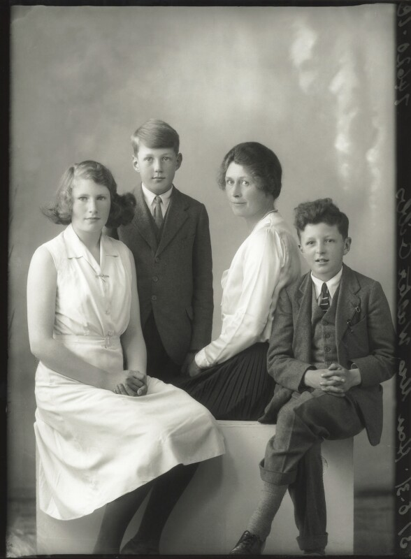 The Gibbs family, by Bassano Ltd, 31 August 1931 - NPG x150602 - © National Portrait Gallery, London