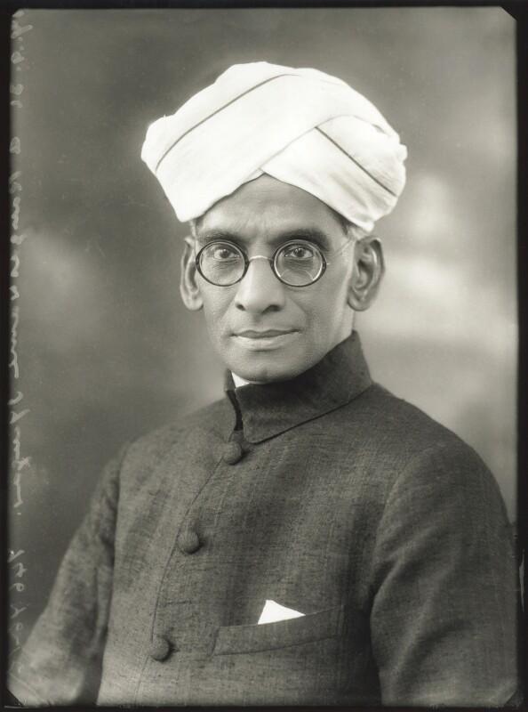 A. Rangaswami Iyengar, by Bassano Ltd, 17 September 1931 - NPG x150614 - © National Portrait Gallery, London