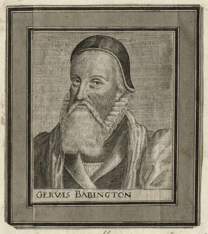 Gervase Babington, after Simon de Passe, published 1651 - NPG D23144 - © National Portrait Gallery, London