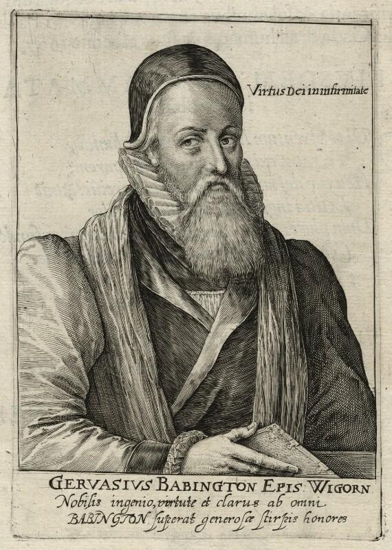 Gervase Babington, by Simon de Passe, published 1620 - NPG D23141 - © National Portrait Gallery, London