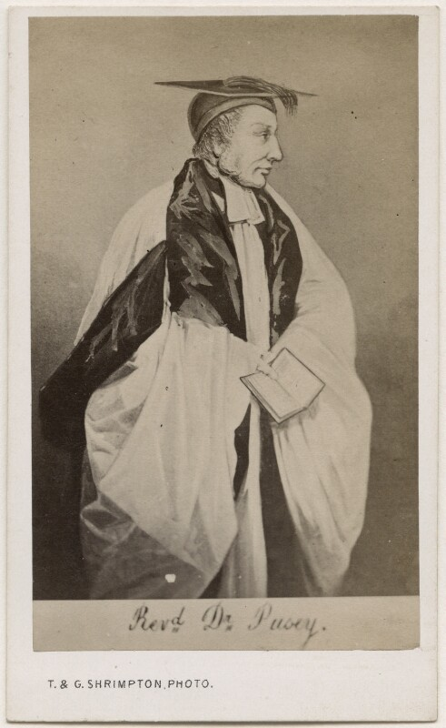 Edward Bouverie Pusey, by Thomas & George Shrimpton, after  Unknown artist, 1860s - NPG Ax17844 - © National Portrait Gallery, London